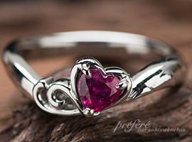 ハートルビーと二人の想い出の国見岳モチーフの婚約指輪のオーダー