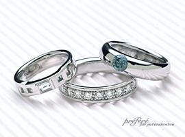 色々な思いを込めたダイヤのオーダーメイドのエンゲージリング(婚約指輪)が出来上がりました。(指輪No.150)