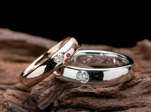 マリッジリング(結婚指輪)はシンプル&キュートでオーダーメイド(指輪No.3524)
