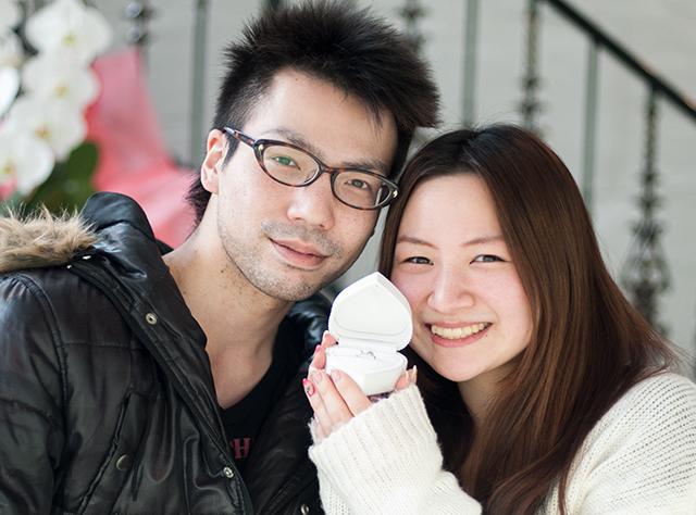 福井県 清水一貴様&みちる様 婚約指輪(エンゲージリング)