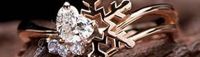 雪の結晶モチーフの写真