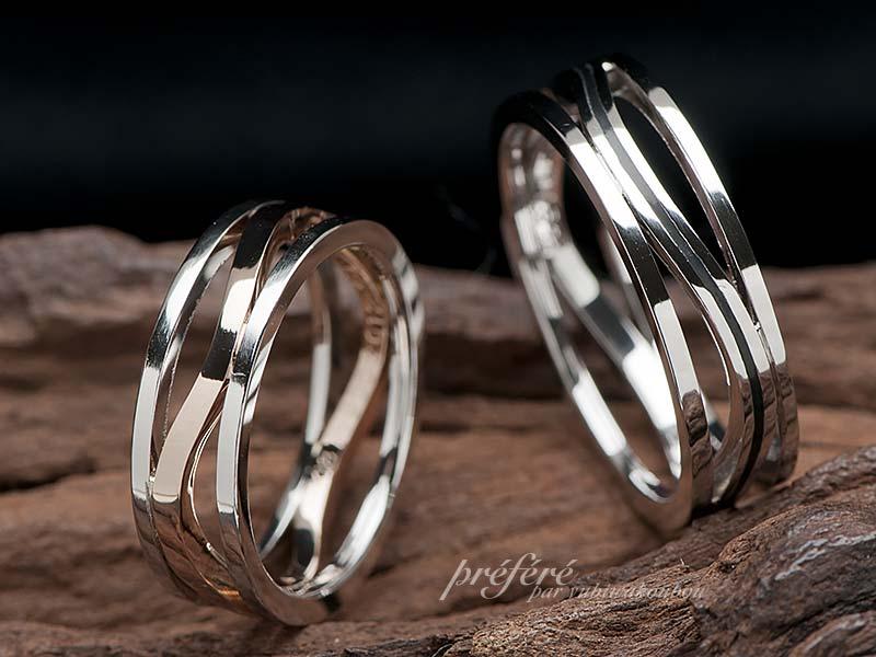 オーダーの結婚指輪はおしゃれな透かしデザイン
