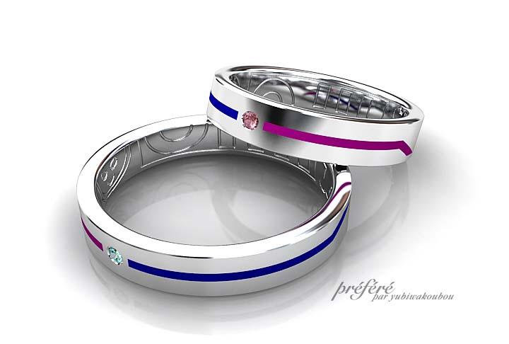 カラーラインの結婚指輪はオーダーメイド