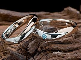 結婚指輪オーダーはプラチナとピンクゴールド素材でお創りしました
