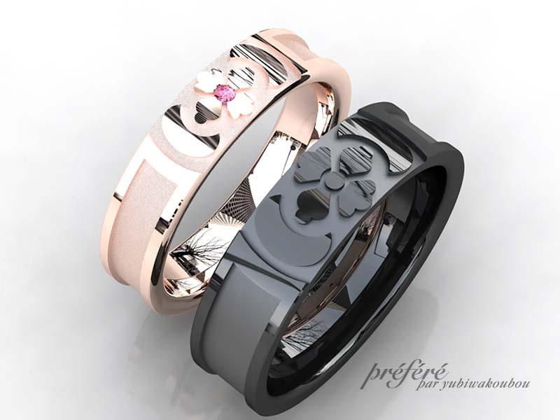 家紋入りブラックリングは結婚指輪のオーダーメイド