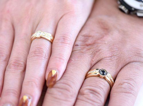 八角形の結婚指輪オーダーメイド