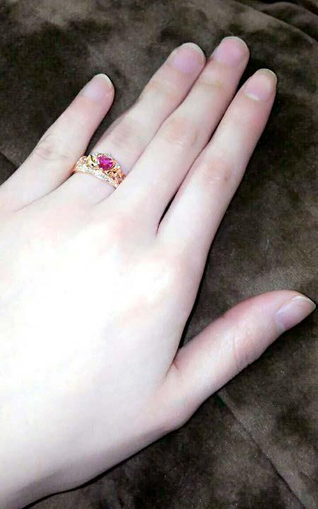 婚約指輪をお創りいただいたお客様