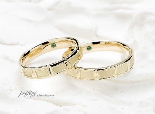 チョコレートモチーフの結婚指輪をお二人の愛で溶かす体験