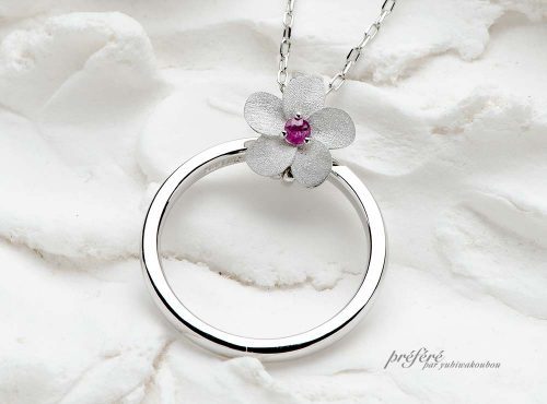 結婚指輪のペンダントはオーダーでお創りしました