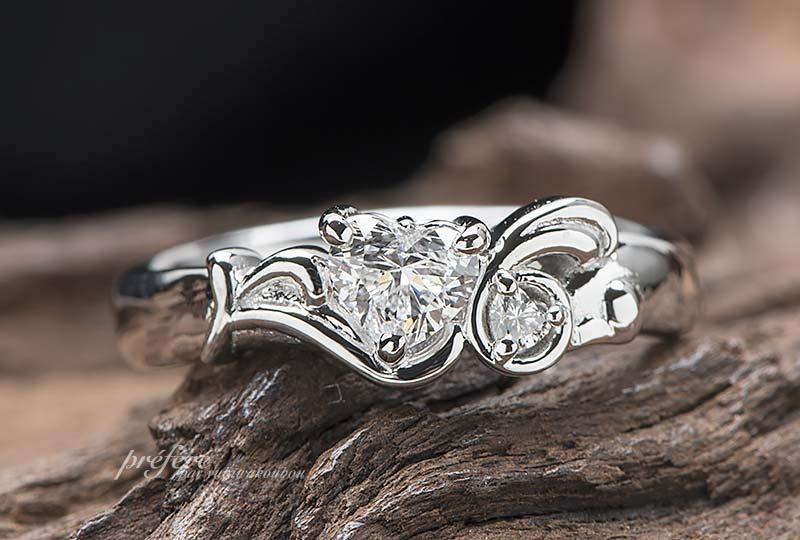 婚約指輪オーダー プロポーズ, ウサギ ハートダイヤ 婚約指輪