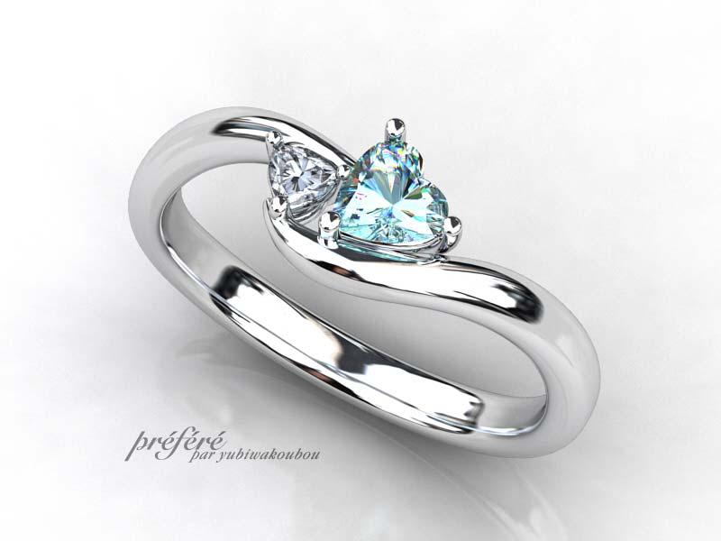 3月のお誕生石の婚約指輪