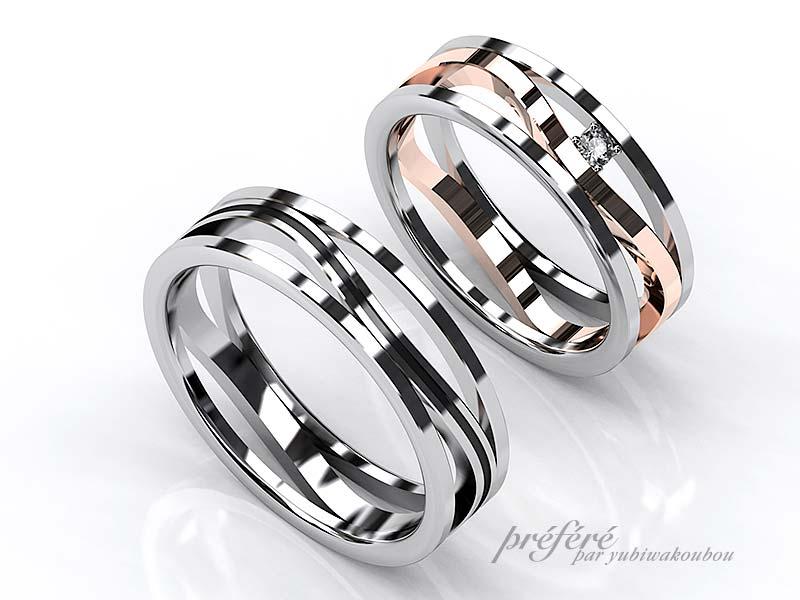 オーダーメイドの結婚指輪はおしゃれな透かしデザイン