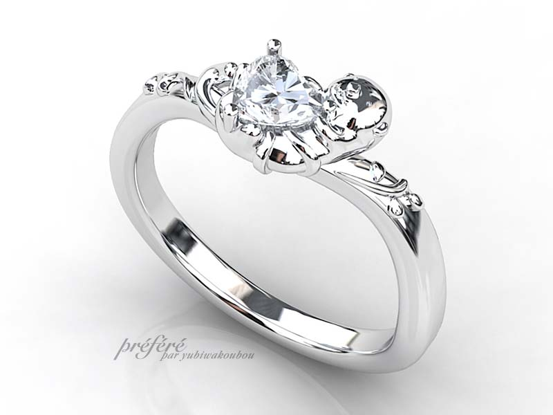 ラッコ婚約指輪オーダー