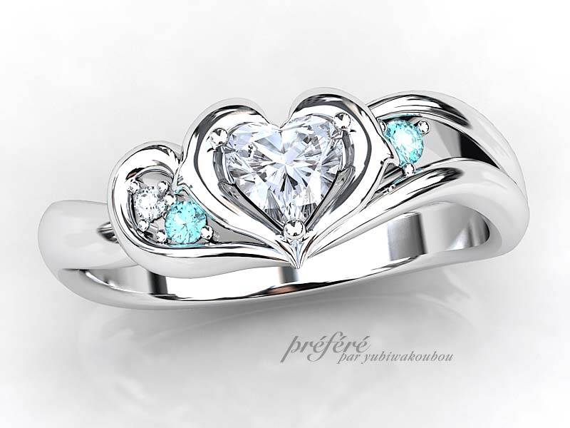 イルカ婚約指輪オーダー