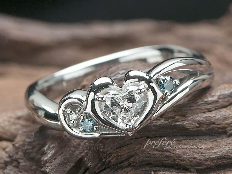 イルカ婚約指輪をオーダー