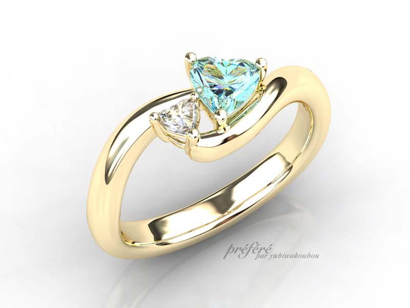 アクアマリンの婚約指輪