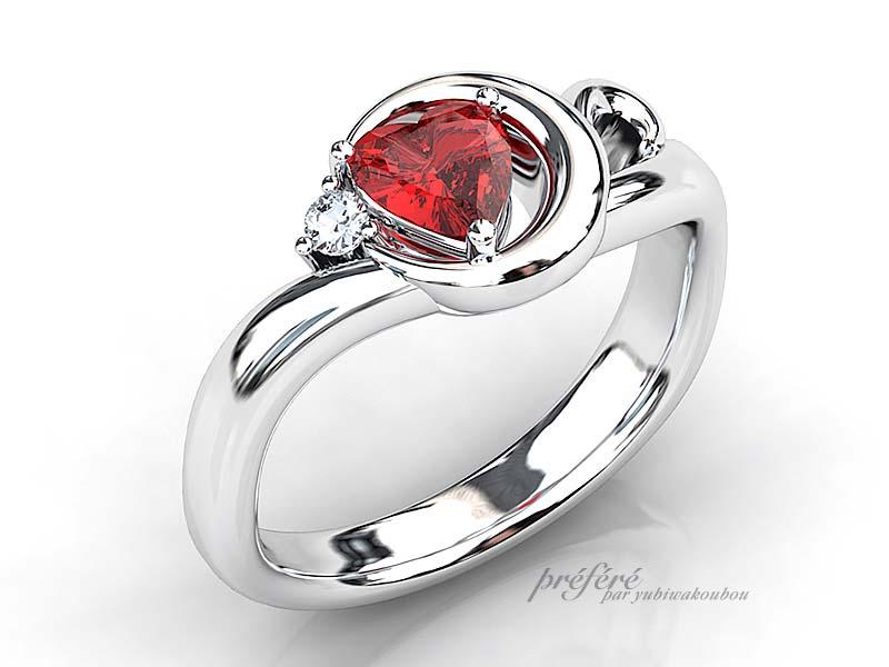 ハートルビー 婚約指輪オーダー,婚約指輪オーダー プロポーズ