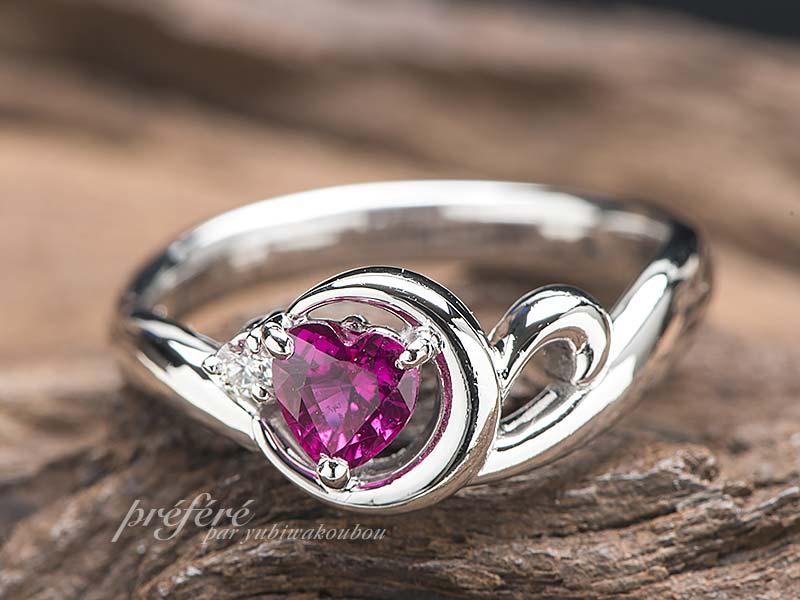 ルビー婚約指輪オーダー
