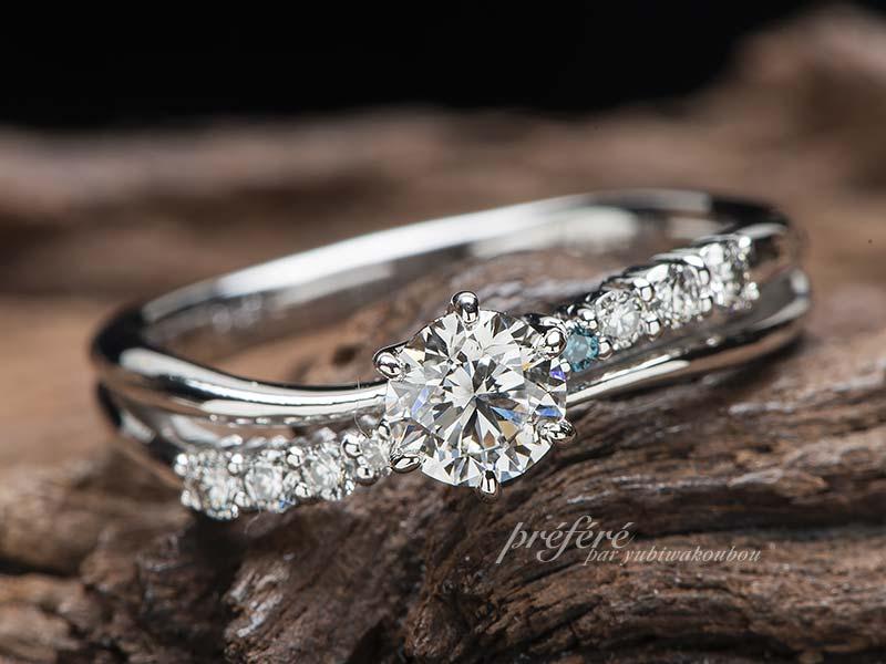 紛失した婚約指輪と同じデザイン