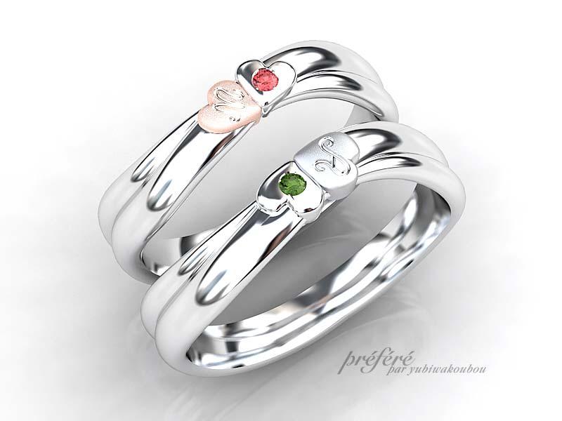 四つ葉のクローバーが現れる結婚指輪をオーダーメイド