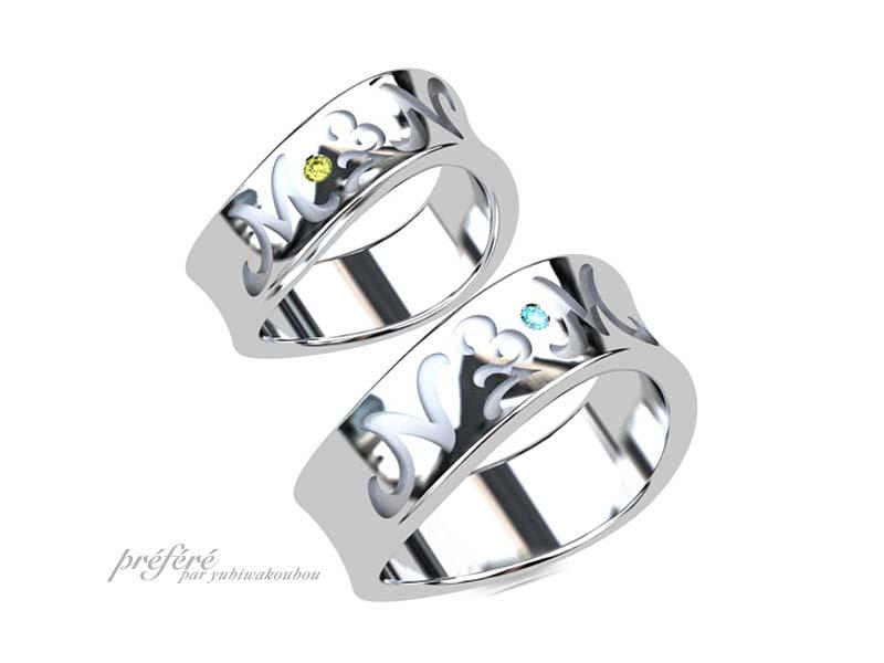 2個目の結婚指輪(スイートリング)はイニシャルを入れてオーダーメイド