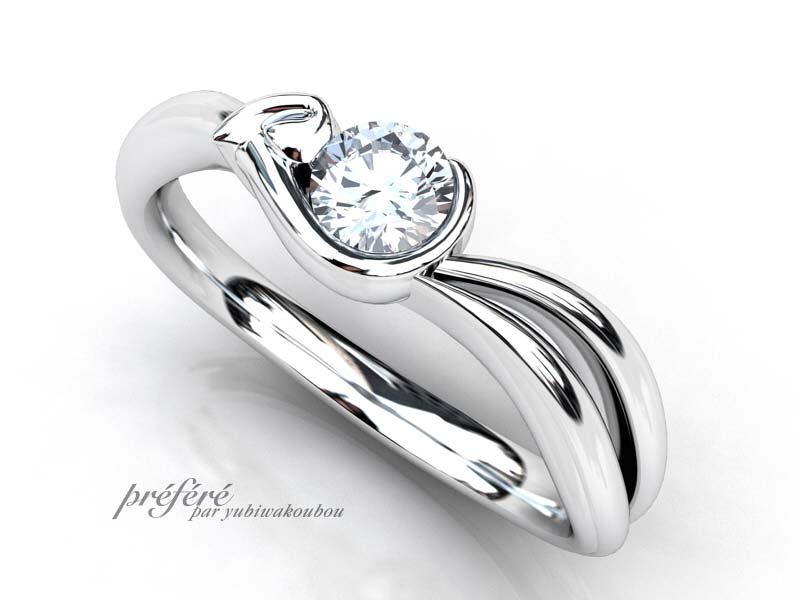 うさぎ婚約指輪