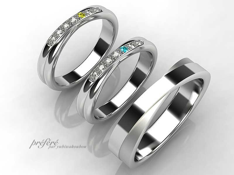 オーダメイドの結婚指輪はシンプルなデザイン