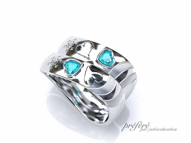 結婚指輪は幸せ四つ葉のクローバーモチーフでオーダー