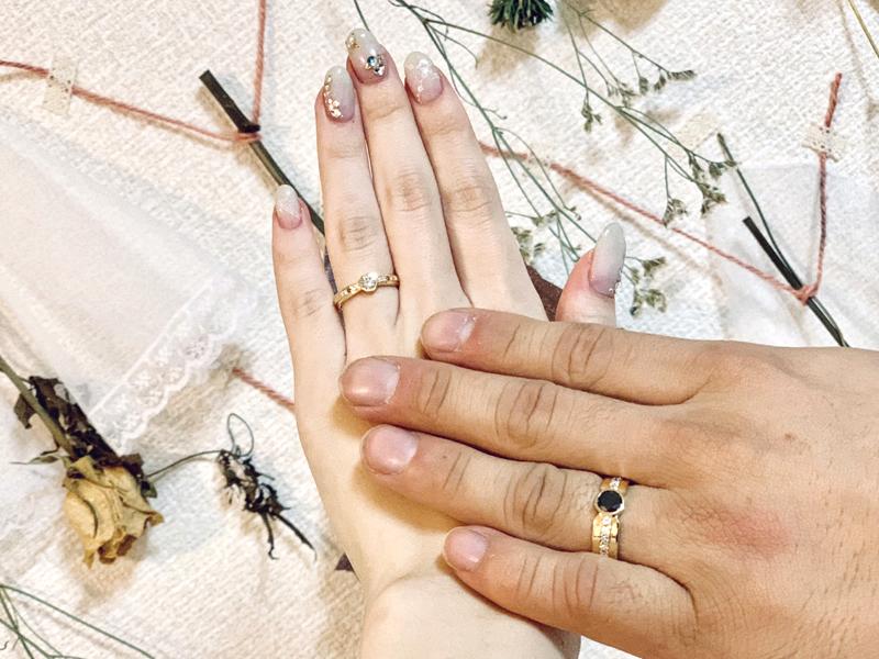 幸せの数字8と11の結婚指輪