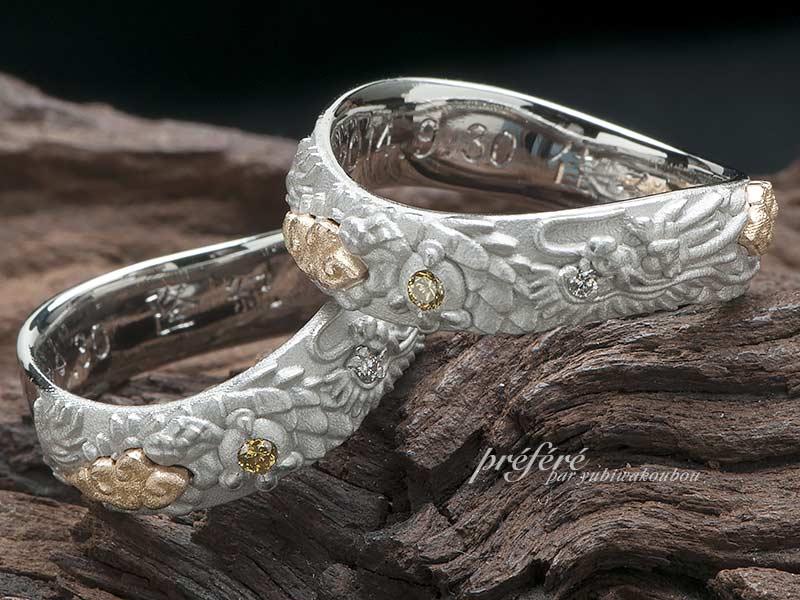 龍モチーフでお創り頂きました結婚指輪のオーダー