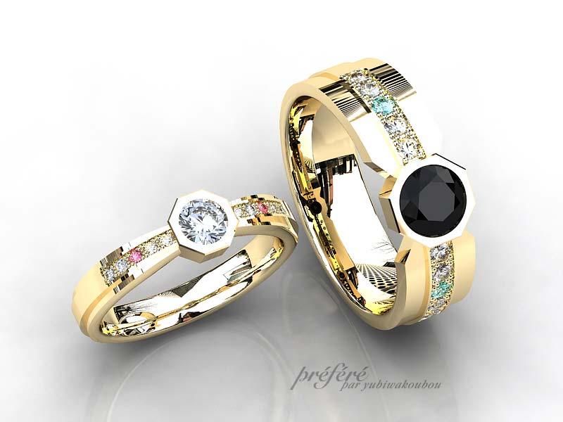 八角形の結婚指輪