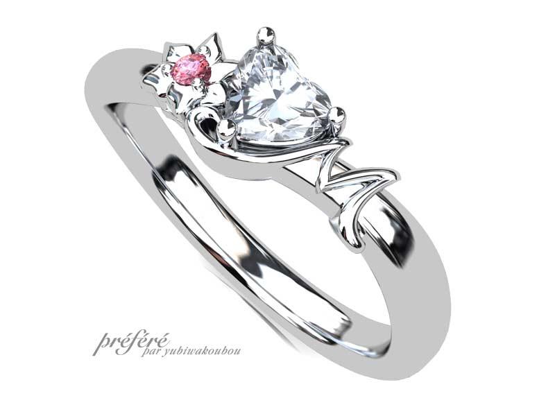 梨の花の婚約指輪