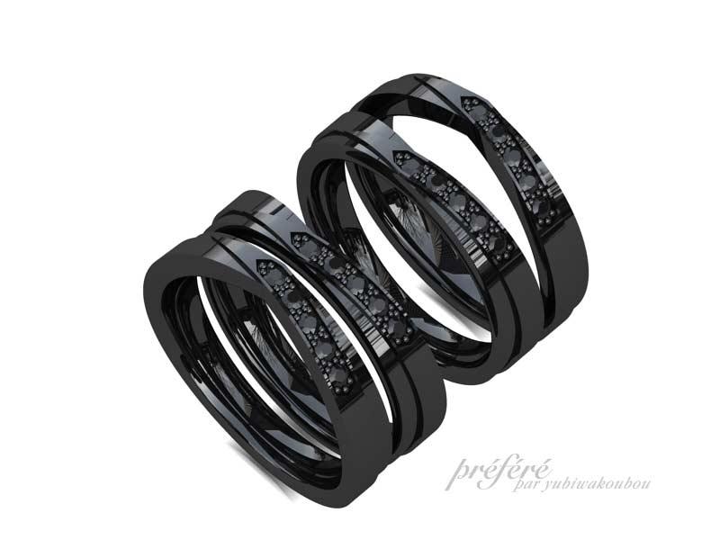 ブラックリングの結婚指輪