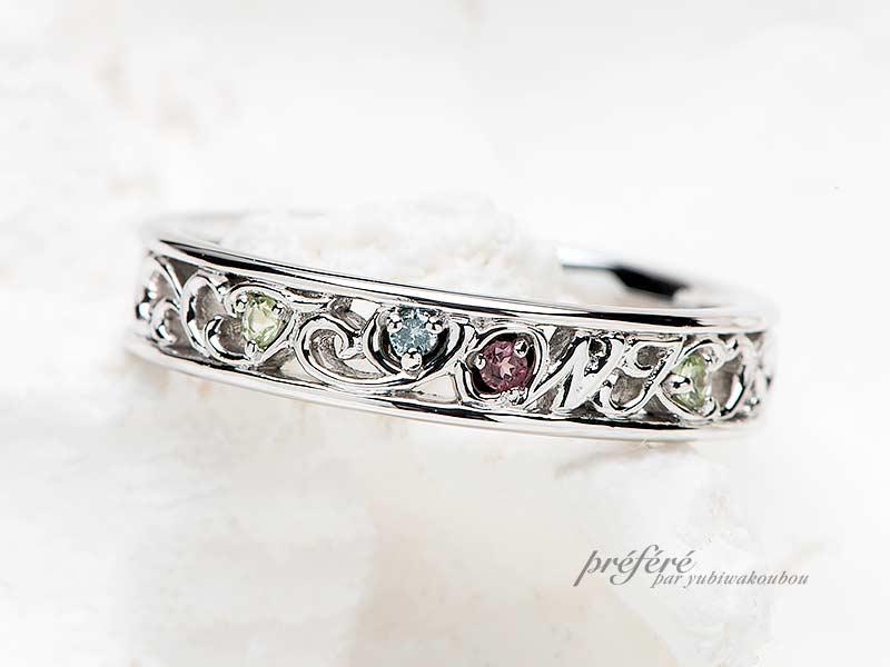 ご結婚10周年記念の指輪