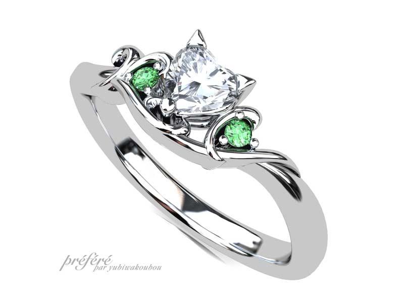 ネコの婚約指輪