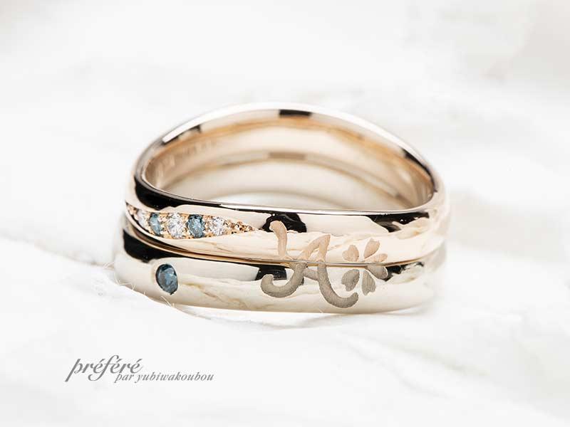 隠れモチーフでしあわせ感がアップするオリジナル結婚指輪(マリッジリング)