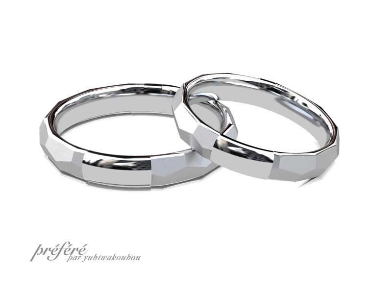 結婚指輪は富士山のイメージCG
