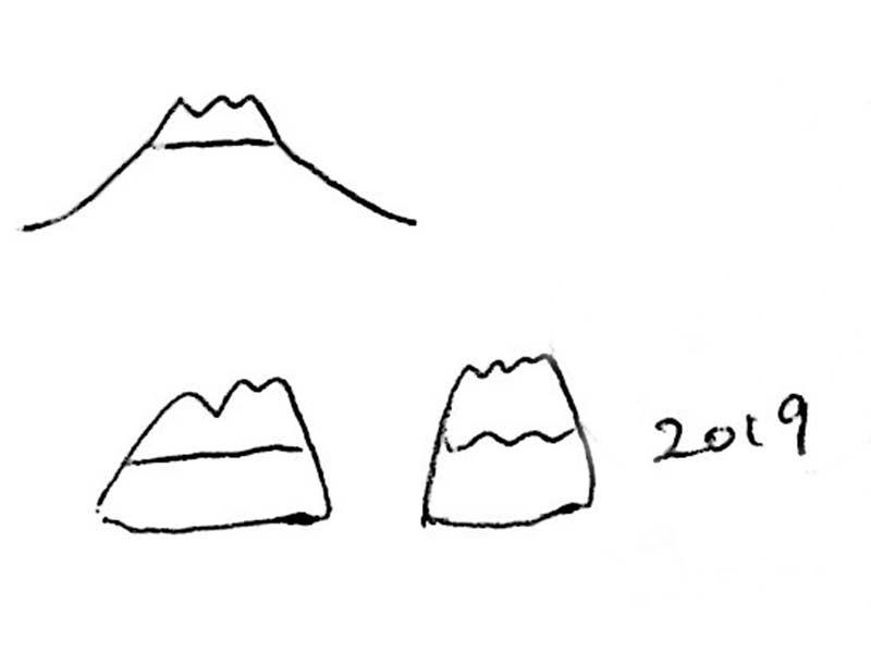 リング内側に富士山イラスト