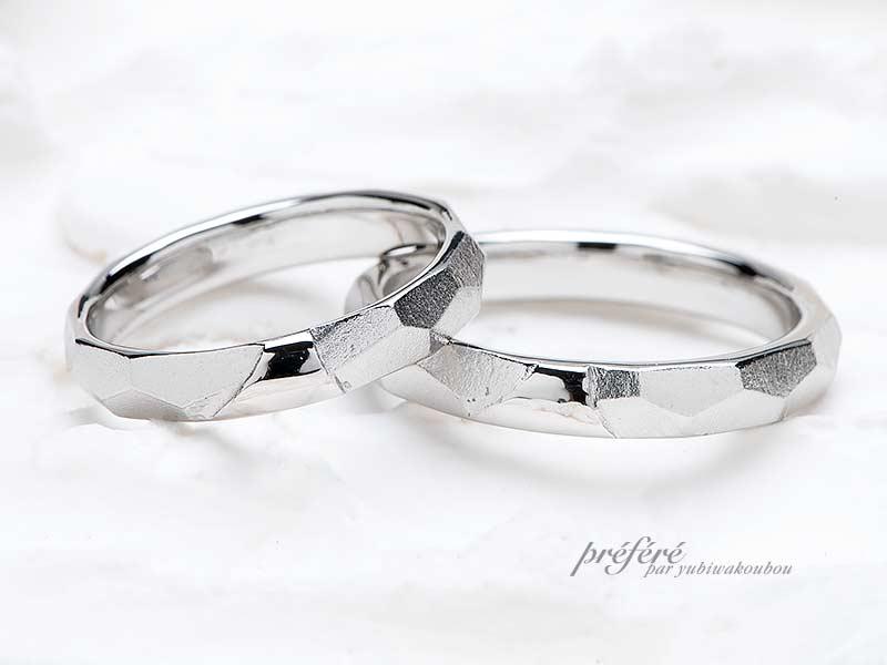 オリジナルな結婚指輪は富士山モチーフ