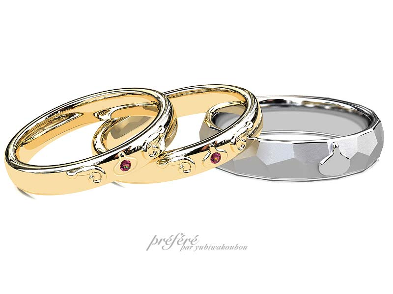 スライムイメージの結婚指輪