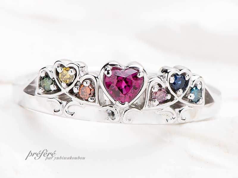 ハートルビーの婚約指輪