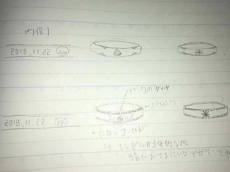 スライムモチーフの結婚指輪