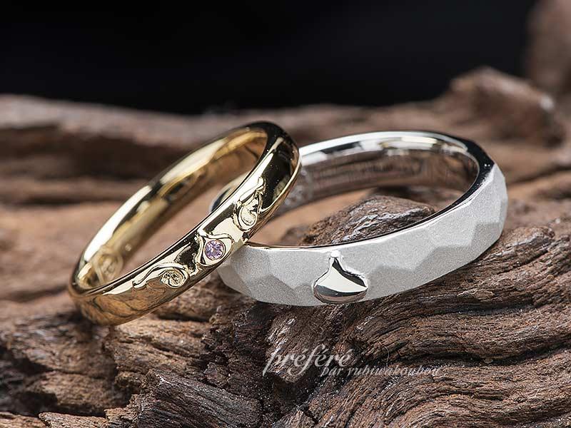 スライムをイメージしてお創りした結婚指輪