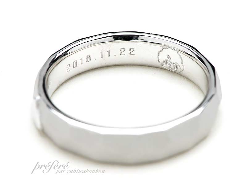 """スライム""""をイメージしてお創りした結婚指輪"""