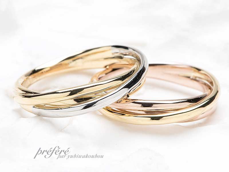結婚指輪デザインは3連リング