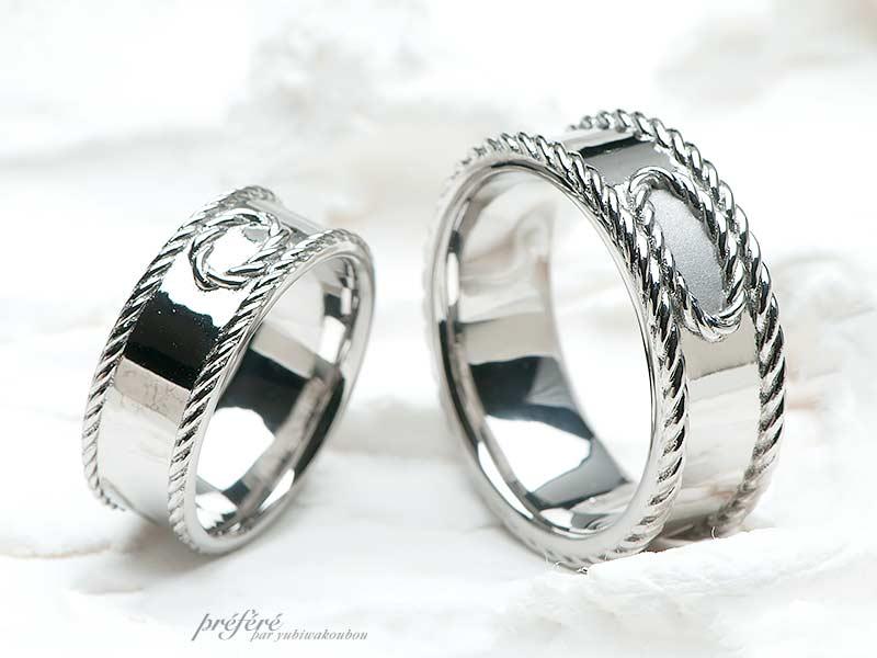 ホワイトゴールド素材の結婚指輪