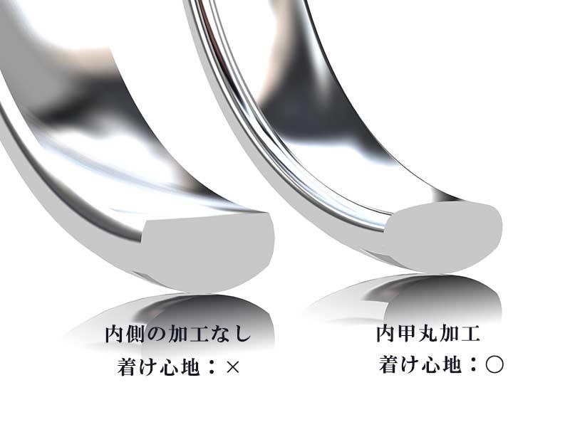 結婚指輪の内甲丸