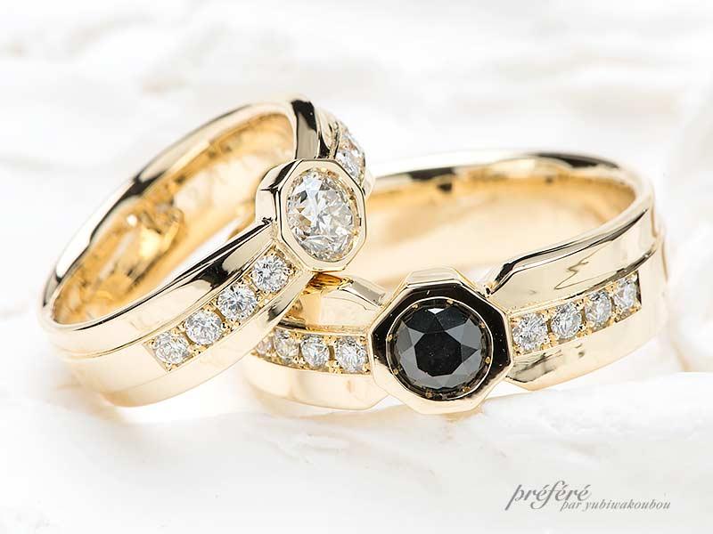 ボリュームのある結婚指輪
