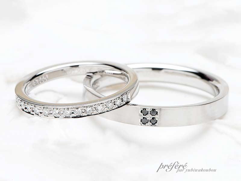 平打ちストレート形状の結婚指輪