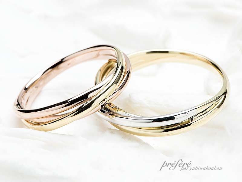 ペア20~25万円のフルオーダー結婚指輪